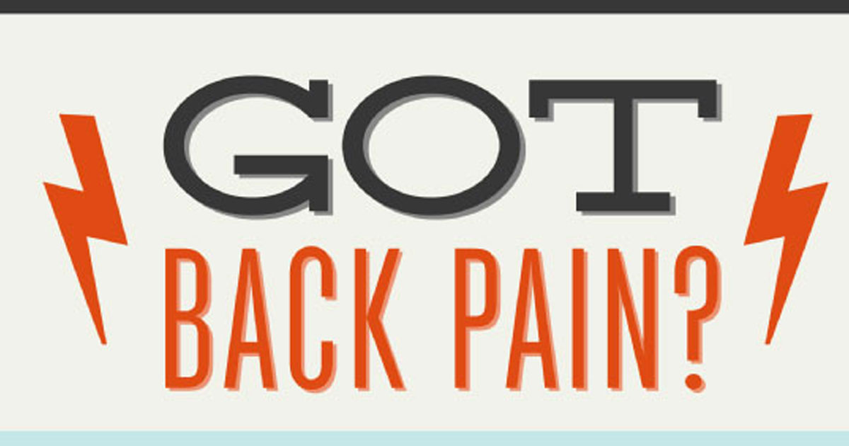 Infographic: Infographic about the prevalence and what to avoid when you have back pain.