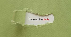 Picture that reads uncover the facts